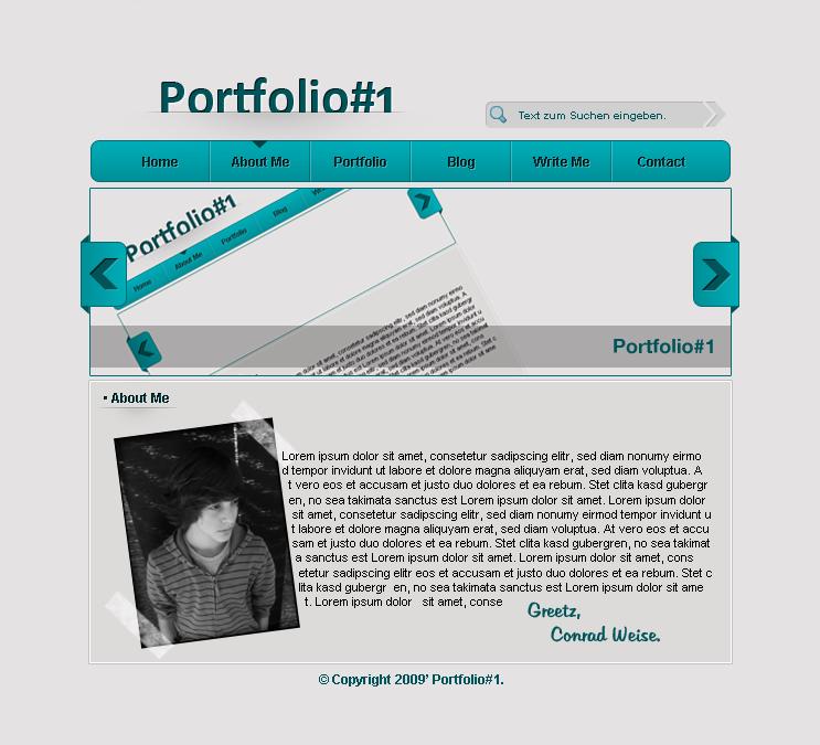 conradweise.de - Portfolio Design #1