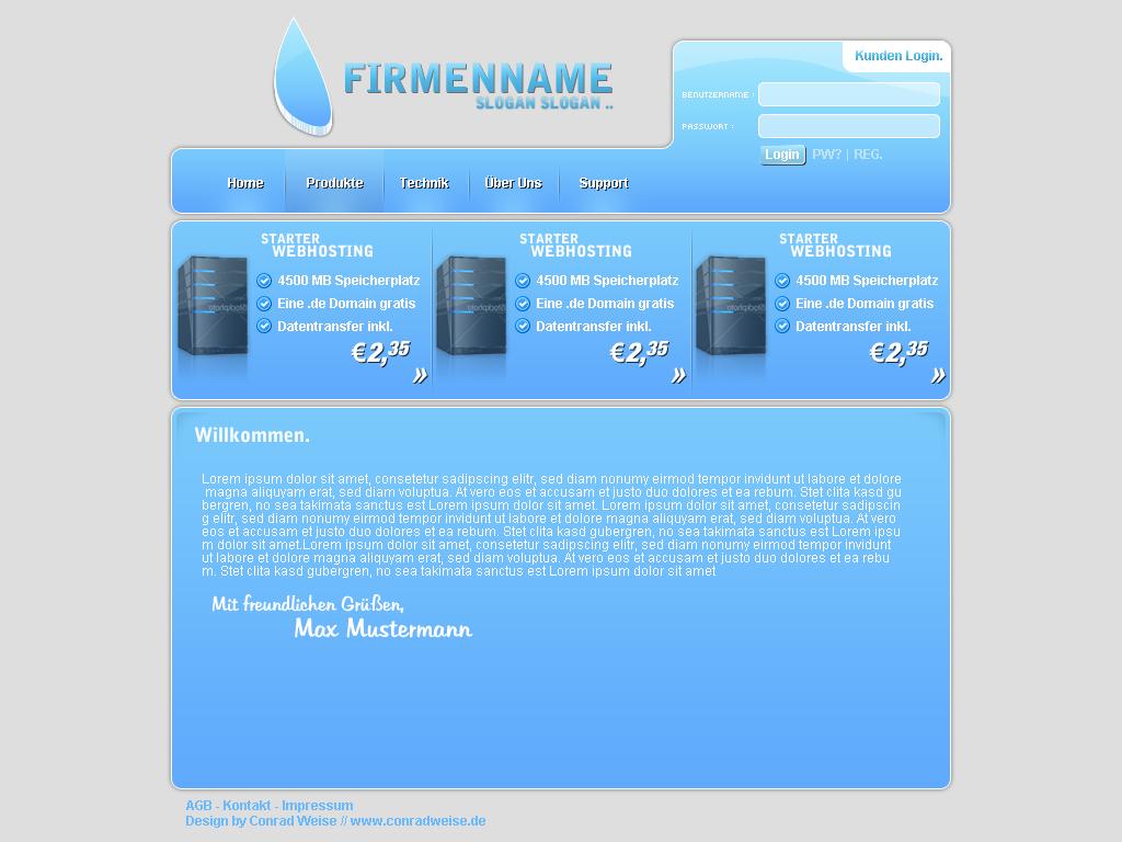 conradweise.de - Webhosting Design #1