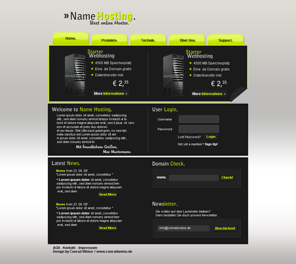 conradweise.de -  Webhosting Design #2